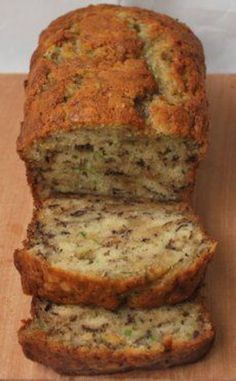 Banana zucchini bread recipe. Way better than just regular banana bread!