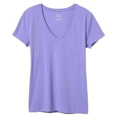 Banana Republic Women Factory Timeless V Neck Tee ($13) ❤ liked on Polyvore featuring tops, t-shirts, short sleeve tops, v neck t shirts, banana republic tops, v-neck tee and v neck top