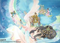 Conte de Tanabata : Dans la voie Lactée, by Igarashi Yumiko http://www.artofjapaneseillustration.com/shop/fr/475-le-conte-des-7-nuits-by-igarashi-yumiko.html Copyright (C) reserved