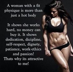 A woman with a fit physique…