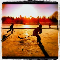 Pond hockey... I love Canada
