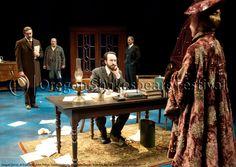 Oregon Shakespeare Festival. SEAGULL (2012): Al Espinosa, John Pribyl, Tasso Feldman, Armando Durán, Kathryn Meisle. Photo: Jenny Graham.