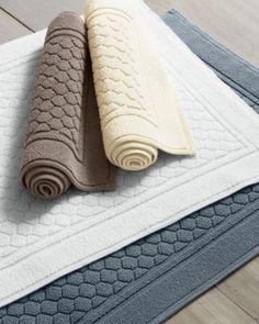 Garnet Hill Honeycomb Cotton Bath Rug