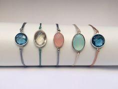Armbänder - filigranes Armband mit eingefasstem Topas - ein Designerstück von von-Ela bei DaWanda