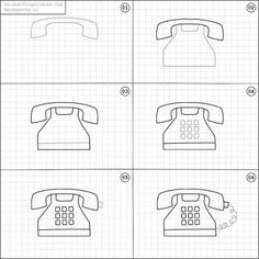How to draw a phone.