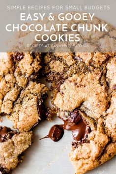 These chocolate chip cookies are the perfect mix of crispy, chewy and pools of melted chocolate that are gooey when warm. All ingredients from Aldi UK. Cookie Recipe Uk, Chocolate Chunk Cookie Recipe, Crispy Chocolate Chip Cookies, Gooey Cookies, Chocolate Bowls, Roll Cookies, Chocolate Recipes, Biscuit Recipes Uk, Baking Recipes Uk