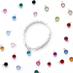 Baby bracelets, baby bracelets, bracelet, Black Friday, deals, free with purchase. Swarovski birthstone charm.