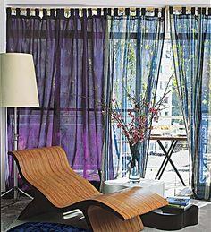 cortina leve colorida