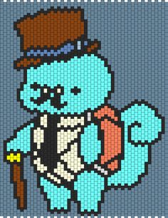 Squirtle Pokemon bead pattern