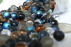 6mm Pebblestone Czech Glass Round Pressed #Bead Mix, #Beads #beading #supplies
