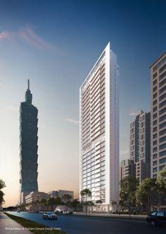 Comienza construcción de rascacielos diseñado por Richard Meier en Taipei,© Vize.com; cortesía de Richard Meier & Partners Architects