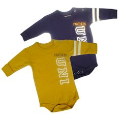 College Kids purple and gold long sleeve onesie. $23.99