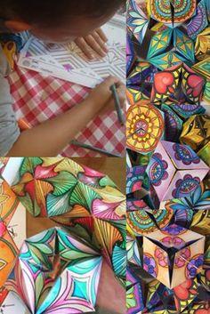 I disegni dei miei Caleidocicli sono basati sui mandala, che stimolano sensazioni di calma e serenità mentre si colorano.  Ho creato 6 modelli diversi di caleidocicli. Provali tutti!Ogni disegno permette infinite possibilità di combinazioni cromatiche! Libera la tua creatività esperimentando con i tuoi materiali e colori preferiti. Paper Toys, Tangled, Fun Activities, Zentangle, Make Your Own, Free Printables, Coloring Pages, Origami, Art Projects