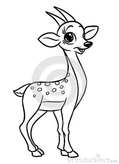Antelope animal coloring pages cartoon illustration isolated image
