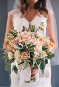 peach bouquet | THE LEEKERS | Glamour & Grace