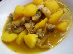 Estofado de patatas y champiñones