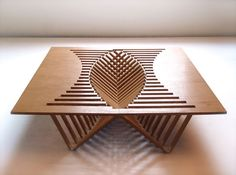 Rising Table by Robert Van Embricqs — Brilliant & Beautiful, my favorite combination.