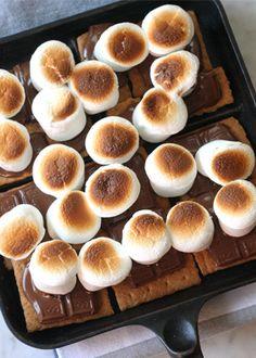 Broiler S'Mores. Get the recipe via @PureWow via @PureWow