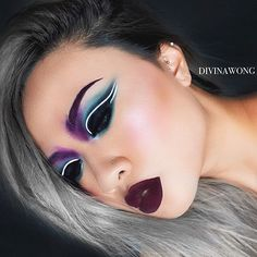 "548 Likes, 17 Comments - ☾ D I V I N A (@divinamuse) on Instagram: ""- Transylvania - added some oomph to the previous look  Details: @narsissist eyeshadow ""tropic""…"""