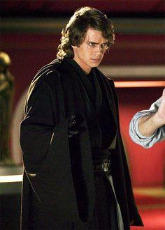 """ Hayden Christensen as Anakin Skywalker on the set of Star Wars: Revenge of the Sith (2005) """