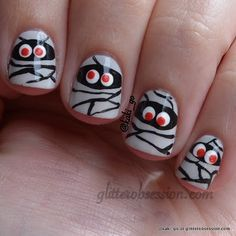 Halloween nail art. #halloweennails #halloweennailart #nails #nailart