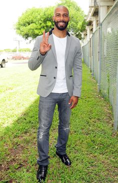 Omari Hadwick at the ABFF unveiling of the Miami Film Life Center