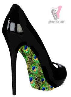 I gasped when I saw these!!! But I would never want to ruin the bottom walking in them! lol!