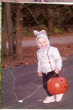 Spencer trick or treating when he was about 4 in Wales Wisconsin