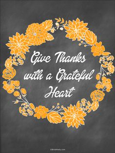 Thanksgiving | Free Give Thanks Printables