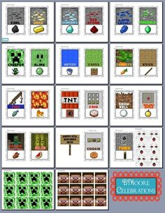 minecraft food printables | Minecraft Food Printables and Cupcake Toppers | Evan's 6th Bday ideas