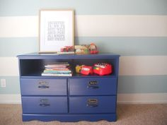 Sara's Closet: Sunday Showcase: Little Blue Dresser