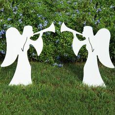 Angel pair Matches Nativity Set *NEW* Christmas Outdoor - Yard