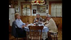 Jessica at Kitchen Table w/ Amos and Seth. Murder She Wrote.