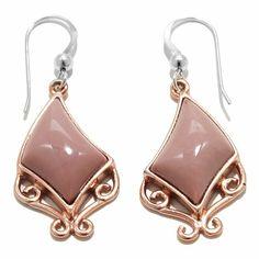 Jay King Pacific Rose Apple Stone Drop Earrings