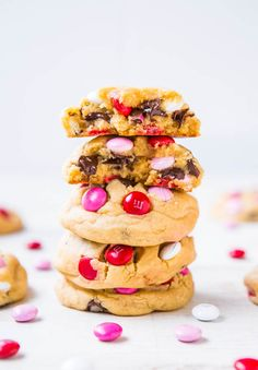 Soft M&M Chocolate Chip Cookies - The softest, thickest, best M&M cookies ever! People go nuts for these big cookies loaded with M&Ms and ch...
