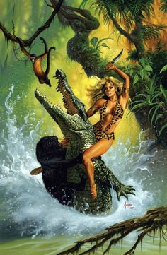 Sheena by Joe Jusko  Auction your comics on http://www.comicbazaar.co.uk