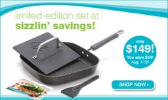 Awesome Grill Pan Set is August Special