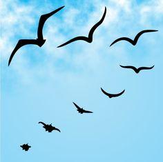 """""""Se um pinguinho de tinta Cai num pedacinho Azul do papel Num instante imagino Uma linda gaivota A voar no céu...""""  Aquarela - Toquinho"""