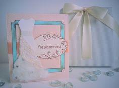 biglietto portasoldi matrimonio wedding abito da sposa tiffany e rosa pesco : Biglietti di chiara-scrapchic