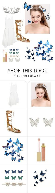 """""""Queen of the Butterflies"""" by pandashipper1227 ❤ liked on Polyvore featuring TIBI, Coeur de Vague, Ancient Greek Sandals, AERIN and Lauren K"""