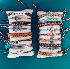 Purvida Bracelets, Beach Bracelets, Summer Bracelets, Bracelet Crafts, Handmade Bracelets, Friendship Bracelets, Mom Jewelry, Simple Jewelry, Cute Jewelry