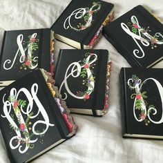 Hand painted journaling Bibles