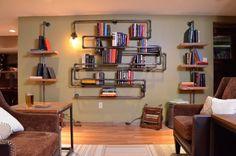 Fancy - Industrial Pipe Bookshelf