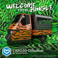 Welcome to the jungle @lapoindependent @garageitaliacustoms @italiaindependentofficial @valeyellow46 @piaggio_official #ape #ape50 #apepiaggio #design #icon #urbanart #welcometothejungle #madeinitaly