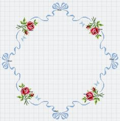 Cross stitch pattern for tablecloth Wedding Cross Stitch, Cross Stitch Rose, Cross Stitch Borders, Modern Cross Stitch, Cross Stitch Flowers, Cross Stitch Charts, Cross Stitching, Cross Stitch Embroidery, Cross Stitch Patterns