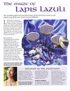 the magic of Lapis Lazuli / Rocks my world