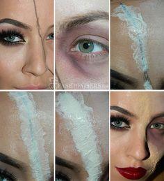 Half Glam/ Half Zombie Halloween Makeup Tutorial