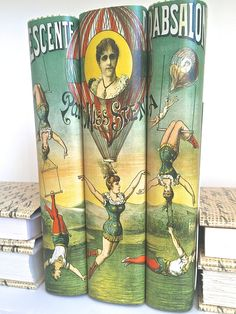 Vintage Circus Image Decorative Books Book Decor by ArtfulLibrary