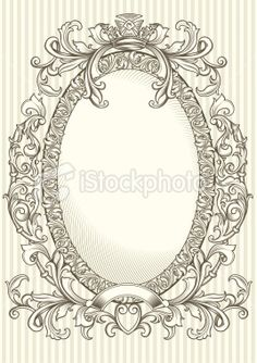 Decorative oval frame Royalty Free Stock Vector Art Illustration