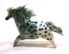 horse sculpture appaloosa pony handmade ceramic by SongandBranch